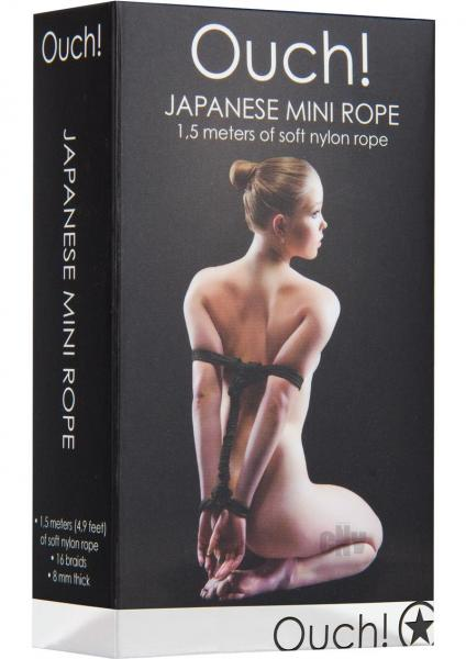 Ouch Japanese Mini Rope 4.9ft Black