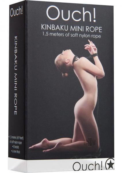 Ouch Kinbaku Mini Rope 4.9ft Black