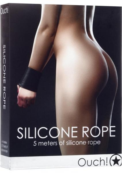 Ouch Silicone Rope Black