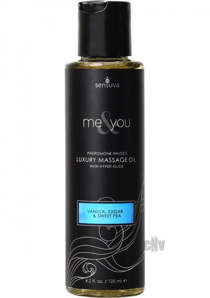 Me & You Massage Oil Vanilla, Sugar, Sweet Pea 4.2oz