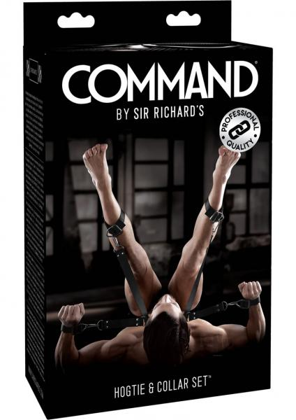Sir Richard's Command Hogtie & Collar Set Black