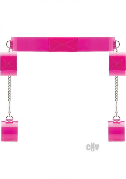Pink Translucent Bondage Belt Velcro Closure