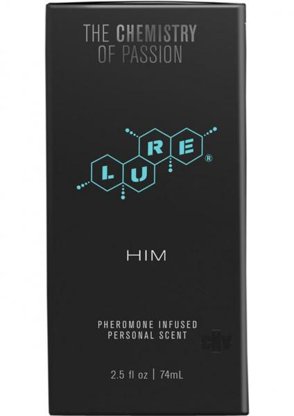 Lure Black Label For Him Pheromone Infused Scent 2.5oz