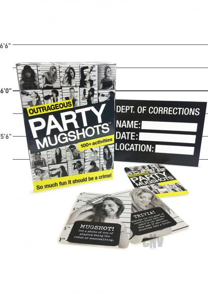 Outrageous Party Mugshots Party Game