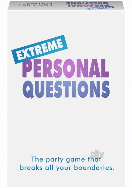 Extreme Personal Questions Adult Party Game