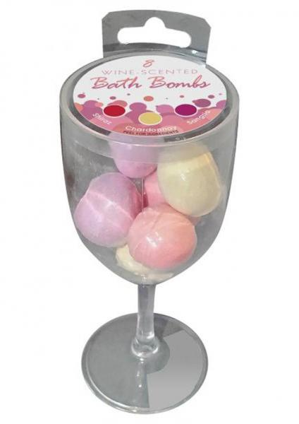 Wine Scented Bath Bombs 8 Pack