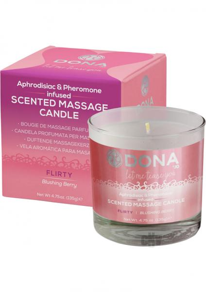 Dona Massage Candle Blushing Berry 4.75oz