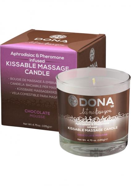Dona Kissable Massage Candle Chocolate 4.75oz