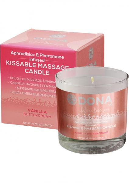 Dona Kissable Massage Candle Vanilla 4.75oz