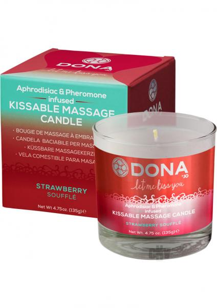 Dona Kissable Massage Candle Strawberry 4.75oz