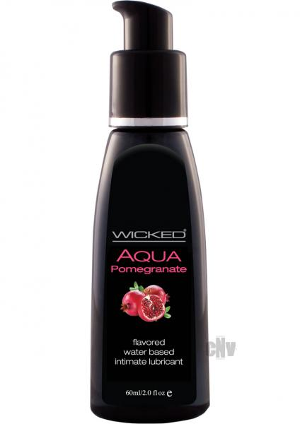 Wicked Aqua Water Based Pomegranate Lube 2oz