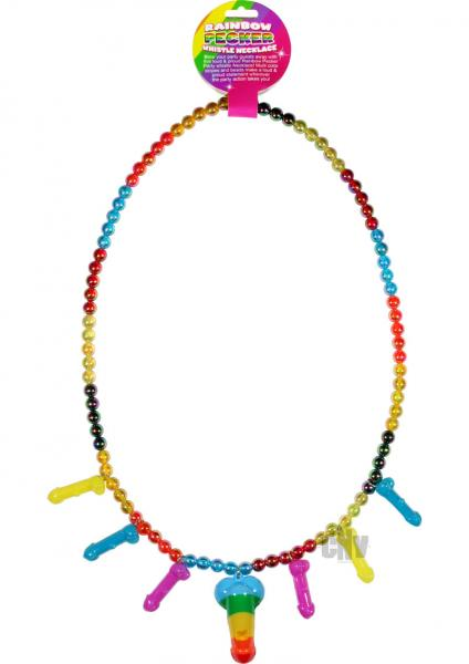 Rainbow Pecker Whistle Necklace