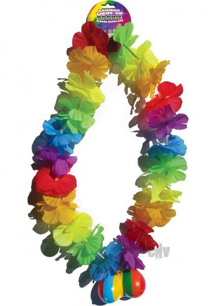 Rainbow Light Up Flower Boobie Necklace