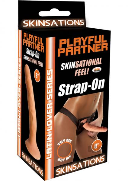 Latin Lover Playful Partner 8 inches Strap On Dildo