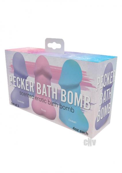 Pecker Bath Bomb 3 Pack Scented Lavender Rose & Ocean