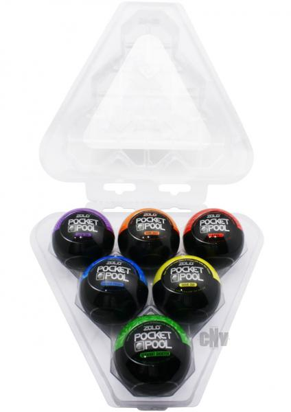Zolo Pocket Pool 6 Pack Assorted Pleasure Cups