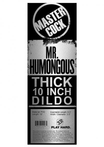 Mr Humongous Thick Dildo 10 inches Beige