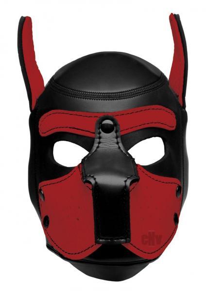 Spike Neoprene Puppy Hood Red O/S 1