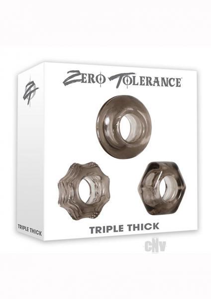 Triple Thick Cock Ring Trio Smoke
