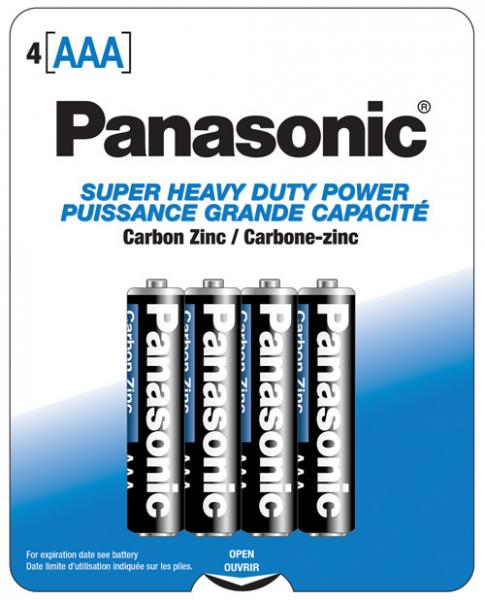 Panasonic Super Heavy Duty Battery AAA 4 Pack