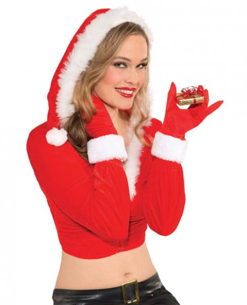 Christmas Gloves For Her Red O/S
