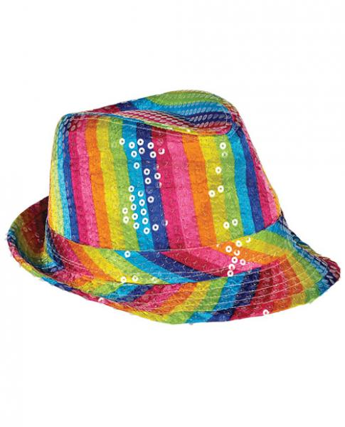 Sequined Rainbow Fedora