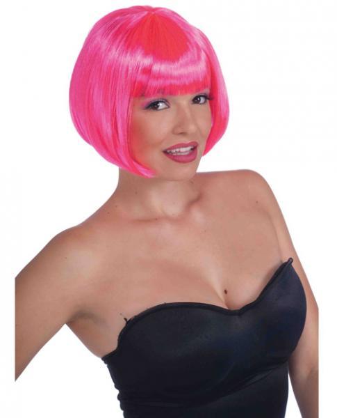 Neon Bob Wig - Pink
