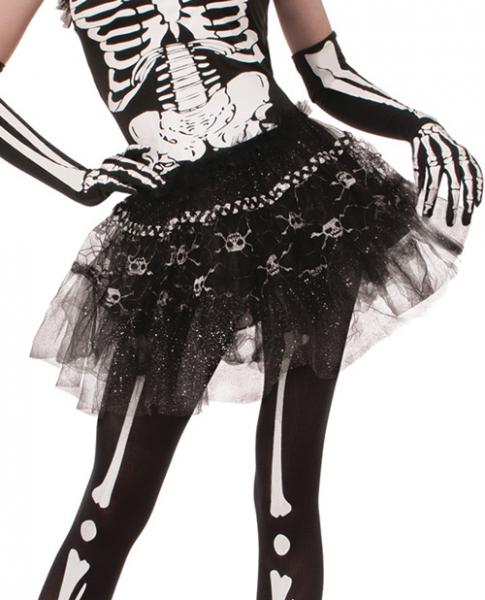 Skeleton Tutu Costume Accessory OS
