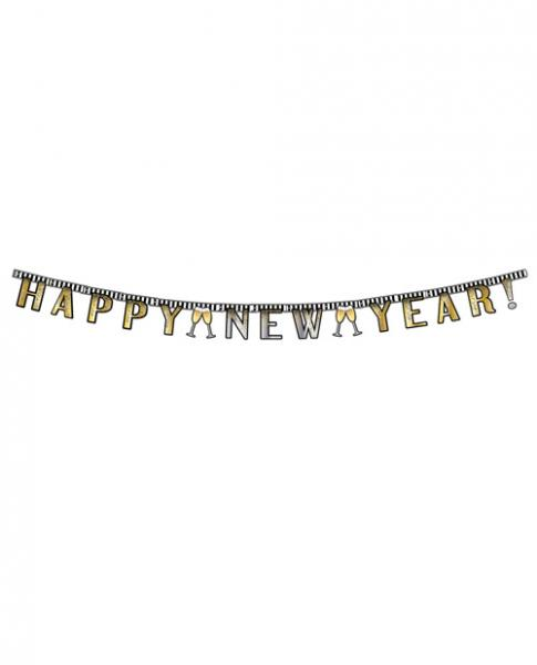Happy New Year Jointed Banner 7ft