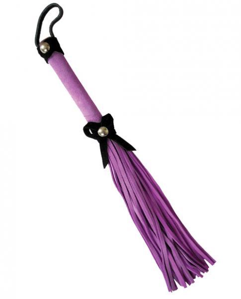 Ruff Doggie 12 inches Love Knot Flogger Purple Black Bow
