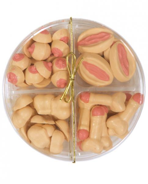 Small Assortment 4 Styles In Round Pack - White Chocolate