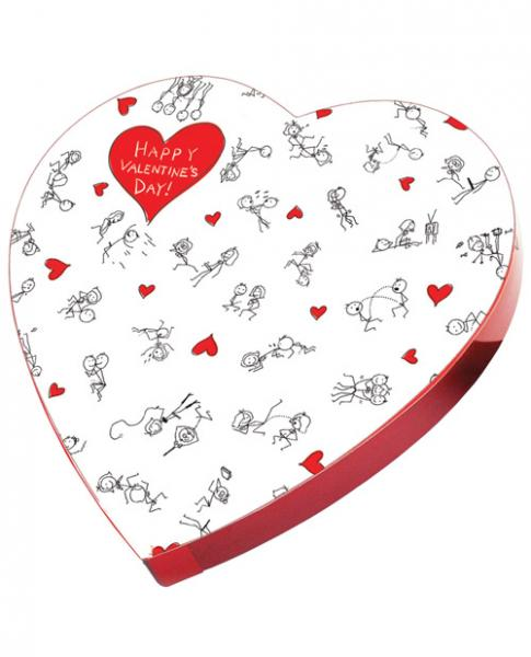Happy Valentine's Day Stick Figure Candy In A Heart Box
