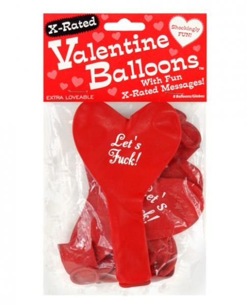 X-Rated Valentine Heart Balloons Red 8 Per Pack