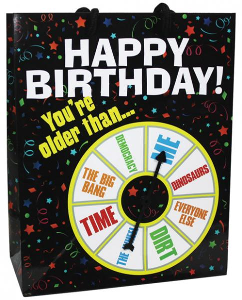Happy Birthday You Are Older Than Spinner Gift Bag