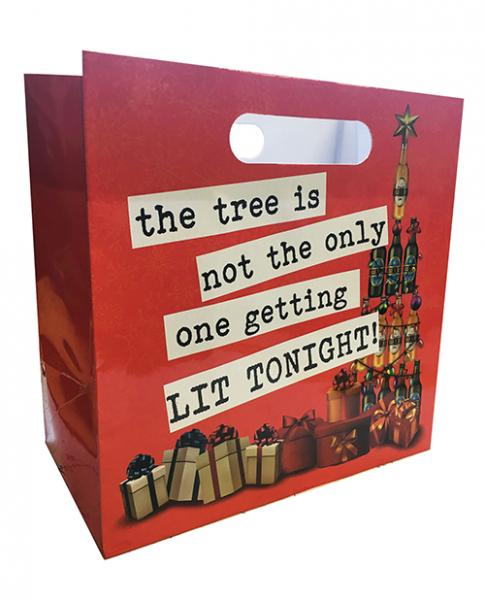 The Tree Is Not The Only One Getting Lit Tonight Gift Bag for 6 Pack
