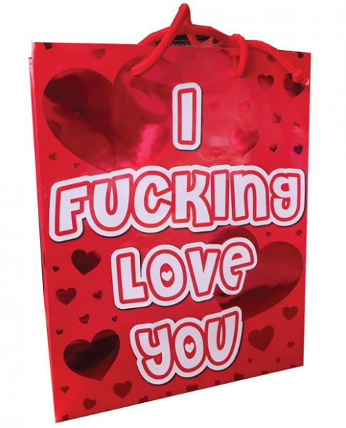 I F*cking Love You Red Heart Foil Gift Bag