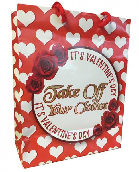 It's Valentines Day, Take Off Your Clothes Gift Bag