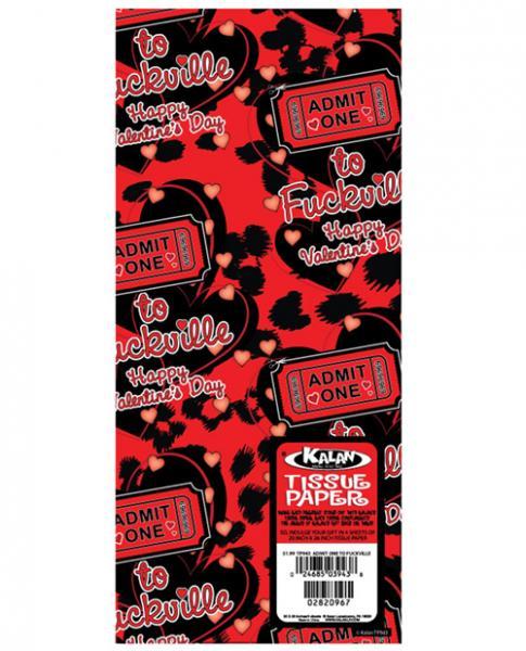 Admit One Happy Valentine's Day Gift Tissue Paper