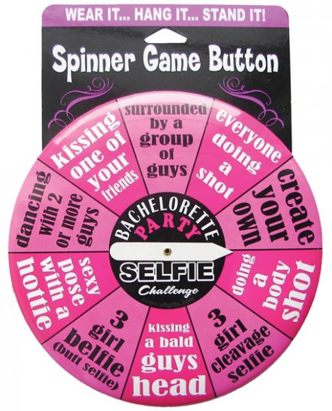 Bachelorette Party Selfie Challenge Spinner Button