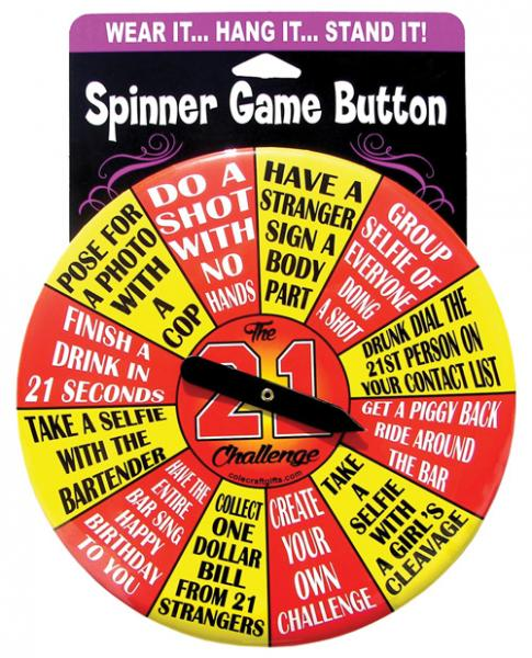 The 21 Challenge Spinner Button