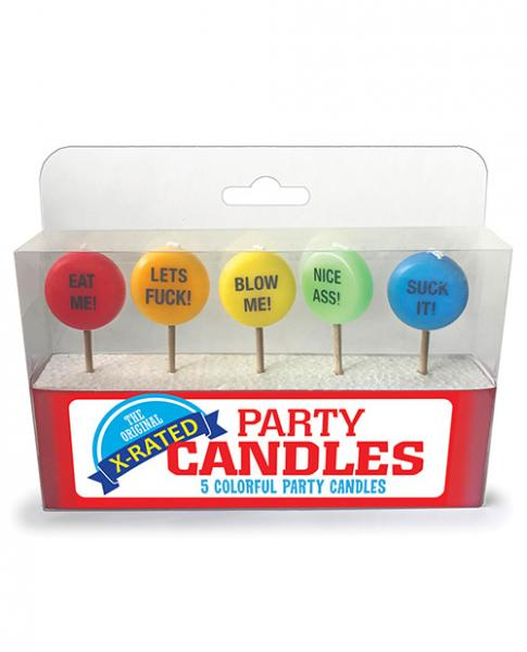 X-Rated Party Candles 5 Colorful Candles