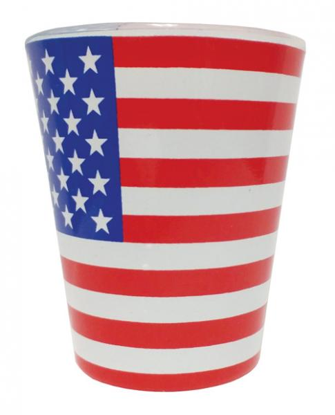 American Flag  Shot Glass 1oz Standard