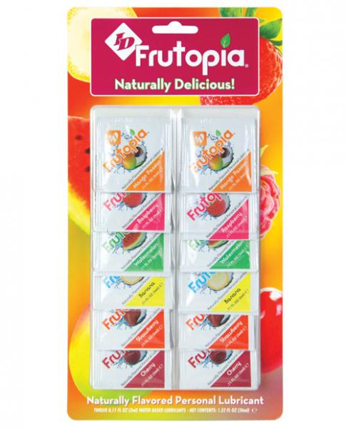 ID Frutopia Natural Lubricant 12 Count 3ml Foil Asst