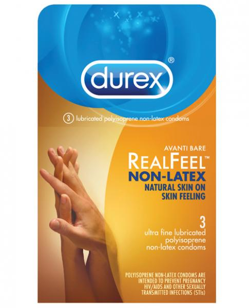 Durex Avanti Real Feel Non-Latex Condoms 3 Pack