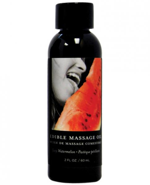 Earthly Body Edible Massage Oil Watermelon 2oz