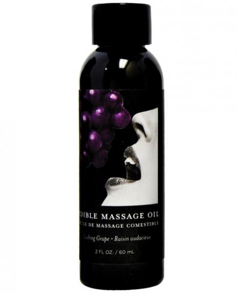 Earthly Body Edible Massage Oil Grape 2oz