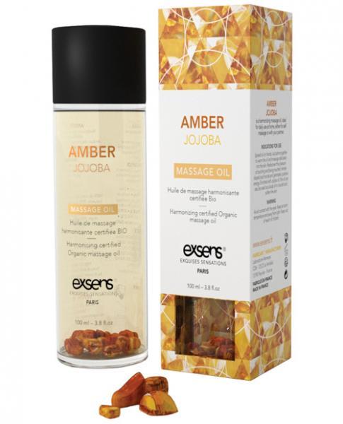 Exsens Of Paris Organic Massage Oil Jojoba Amber Crystals