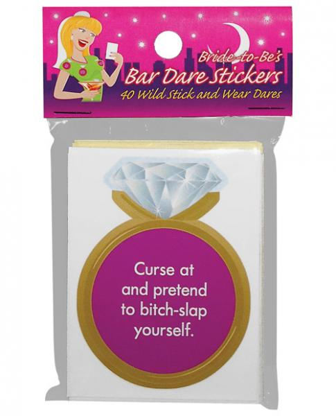 Bride To Be's Bar Dare Stickers