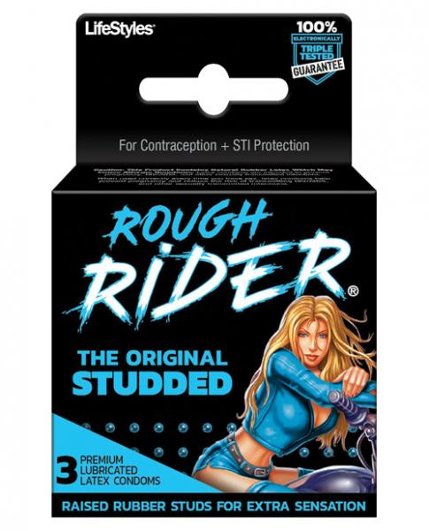 Rough Rider Studded Condom 3 Pack