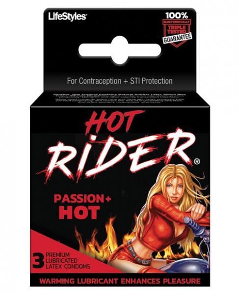 Hot Rider Hot Passion 3 Pack Latex Condoms
